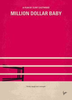 Million Dollar Baby (2004) ~ Minimal Movie Poster by Chungkong #amusementphile