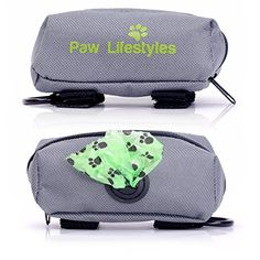 Dog Poop Bag Dispenser Leash Attachment By Paw Lifestyles  Fits Any Dog Leash  Includes Free Roll Of Doggy Bags Perfect for Dog Walking Running or Hiking -- Learn more by visiting the image link.