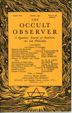 the occult observer