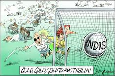 Gold, Gold, Gold NDIS, Leak, The Australian | Political Cartoons Australia