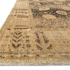 Traditional Gold Spotted Rug