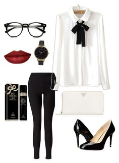 """""""Red at the Office"""" by whit1497 on Polyvore featuring Miss Selfridge, WithChic, MICHAEL Michael Kors, Olivia Burton, Prada and Elizabeth Taylor"""