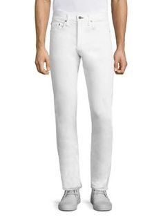 RAG & BONE Straight-Fit Cotton Blend Jeans. #ragbone #cloth #jeans