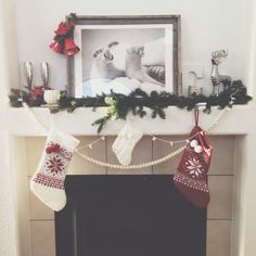 framed baby feet decorated with christmas decor