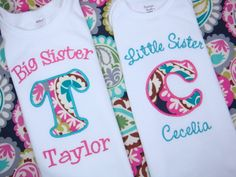 Love these too! Big Sister Little Sister Shirt  Big Brother by sweettulipsboutique, $39.50