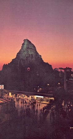"Matterhorn. The silhouette of the skyway ""bucket"" in the mountain really sells this one."