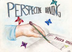 Waldorf ~ 7th grade ~ Perspective Drawing ~ Cover ~ main lesson book