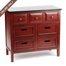 Wood Red 7-Drawer Chest at Kirkland's