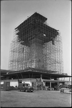Dulles tower, c. 1961.