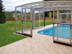 High inground pool enclosure VISION by IPC team.