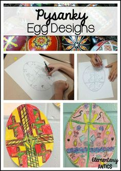 Have your students make Pysanky egg designs!  Great activity that goes along with Patricia Polacco's book, Rechenka's Egg.