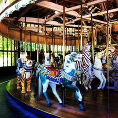 The historic Golden Gate Park Carousel is a 1914 beauty built by the Herschell-Spillman Company. Originally steam powered, the carousel appeared as one of the main sights at the 1939 World's Fair on Treasure Island. Rides cost $2 for adults and $1 for kids.