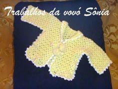Trabalhos da vovó Sônia: Casaquinho de bebê - 3 variações - croché