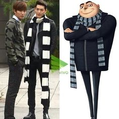 My thoughts exactly... and I want that scarf. #kdrama #heirs #humor Lee Min Ho & Kim Woo Bin
