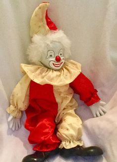 Vintage Clown - Porcelain Face, Hands, Feet | Collectibles, Decorative Collectibles, Figurines | eBay!