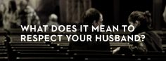 Great reminders on respecting your husband! Worth taking a minute to read.