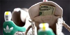 AT4 Adidas Lançamento de cânhamo felizes Kicks 420 Skateboarding (e você pode esconder seus Stash em)