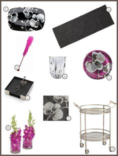 Black Orchid Inspired Table Setting Gallery