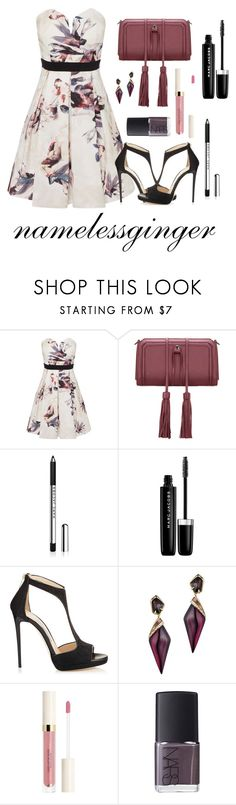 """untitled #482"" by namelessginger ❤ liked on Polyvore featuring Little Mistress, Marc Jacobs, Jimmy Choo, Alexis Bittar and NARS Cosmetics"