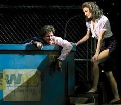 Julia Sullivan and Robbie Hart from the Wedding Singer (this pics from the musical, but the movie is great as well)