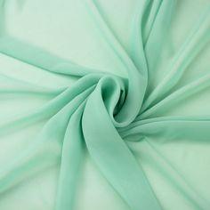 This is a beautiful mint green chiffon fabric. Chiffon is one of my favorite fabrics!