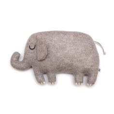 Egbert the Elephant Lambswool Plush Toy - Made to order by saracarr on Etsy. Amazing!