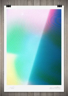Image of Studies in Broadcast Colour 5 111 x 76cm $390 in Abstract