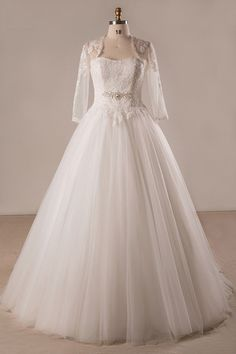 Shop affordable plus size lace tulle ballgown strapless wedding dress with  lace jacket online. Custom 7292f8b70962