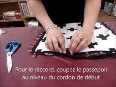 Housse de coussin avec passepoil et fermeture - YouTube