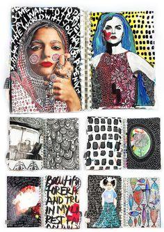 alisaburke- a peek inside my art journal
