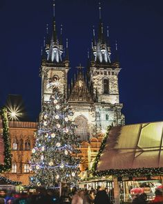 All of the Christmas lights making merry Wwwjustapackcom travel CzechRepublichellip