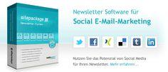 Newsletter Software für Social E-Mail-Marketing. Jetzt für kostenlos für Freeware registrieren unter http://www.sitepackage.de/produkt/freeware