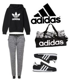 """""""Adidas"""" by lovermonster ❤ liked on Polyvore featuring adidas and Topshop"""