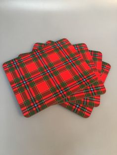 Melamine place mats with Drummond tartan print. 9x7.5 inches 23x19cm. Clearance item. only one available at this price - half the normal selling price