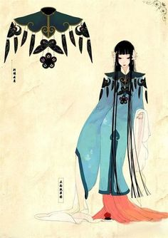 xia da Chinese Mythology, China Art, Chinese Culture, Traditional Outfits, Anime Characters, Manga Anime, Character Design, My Style, Illustration