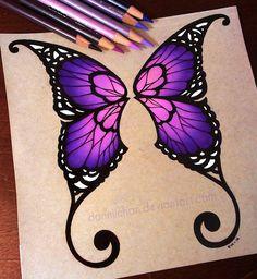 Purple Butterfly Wings - Commission by danniichan on deviantART