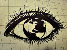 RÉOUVERTURE vente World Vision Original fait main PaperCut Art Silhouette 8 x 10