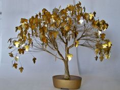Wire tree sculpture art mid century home decor collectible. $70.00, via Etsy.