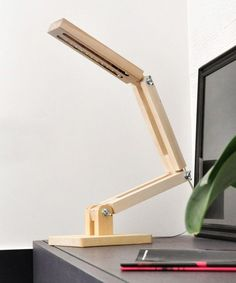 Modern Wooden LED Desk Lamp at dotandbo.com