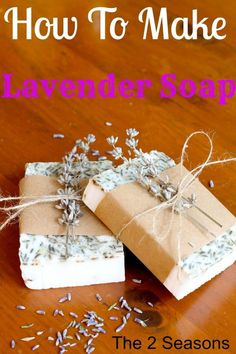 Learn how to make your Lavender Soap.  It is really not hard at all and such a nice gift for a friend or yourself.
