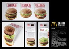 Interesting way to promote product quality by McDonalds in Italy