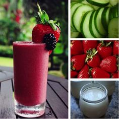 Strawberry-Cucumber Smoothie. I may have to try it; it could replace my strawberry spinach smoothie.