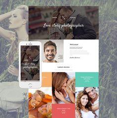 Ready website design for a creative photographer with no coding skills #portfolio #photography #photographers #photo #websitebuilder #webdesign