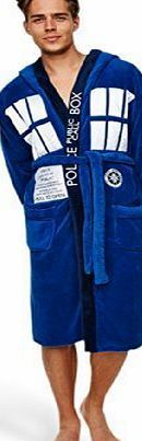 Dr Who Groovy Dr Who Tardis Mens Adult Fleece Hooded Dressing Gown Bathrobe Doctor Who Tardis for Unisex in blue made of 100% polyester. Officially licensed product. (Barcode EAN = 5055437904778). http://www.comparestoreprices.co.uk/december-2016-week-1-b/dr-who-groovy-dr-who-tardis-mens-adult-fleece-hooded-dressing-gown-bathrobe.asp