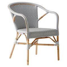 Sika-Design's Madeleine is a stackable chair that has been crafted from rattan. - p l a c e s & a b o d e s - Design Rattan Furniture Outdoor Armchair, Outdoor Dining Furniture, Patio Furniture Sets, Dining Arm Chair, Rattan Furniture, Outdoor Chairs, Rattan Chairs, Furniture Ideas, Furniture Design