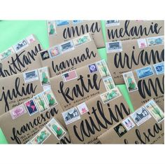 EASY envelope addressing with Tombow's dual Brush pens – lettering by Charm & Fig