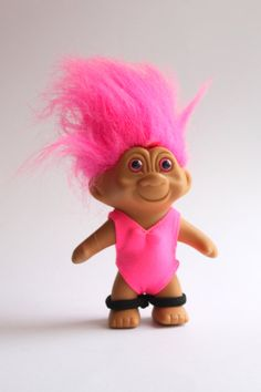 Vintage TN'T Troll Doll Hot Pink by ClassicCaseOfVintage on Etsy, $10.00