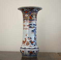 A Large Late 17th or Early 18th Century Japanese Imari Beaker Vase.