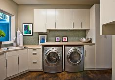 folding counter over appliances and storage above, sink has a window (but trade their places so window looks onto courtyard? Or is it looking into the guest bathroom and is that a problem?)
