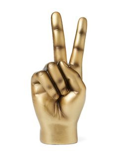 Peace Sign Table Décor Gold from Statement Pieces from Interior Illusions on Gilt